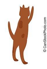 mendigue, salto, manchado, dueño, alimento de animal doméstico, gato
