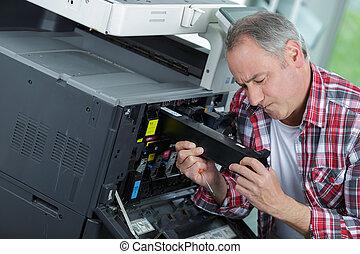mending the printer