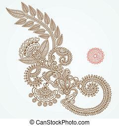 mendy, abstract, henna, bloem