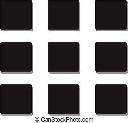 mene icon flat style on white background.