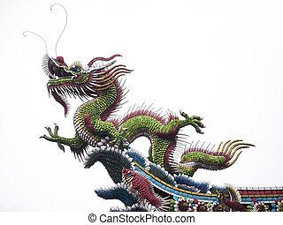 mengjia, longshan, temple, dragon