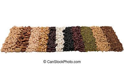 mengsel, soybeans, lentils, erwtjes, bonen, droog