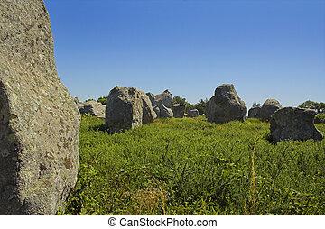 Menhir in Carnac-Brittany