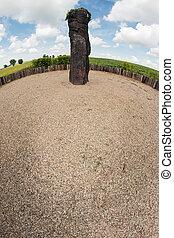 Menhir Stone Shepherd is a menhir standing alone in a field...
