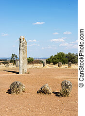 Menhir stones in Portugal - Portugal's largest menhirs, the...