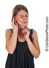 meniere's, síndrome, hembra