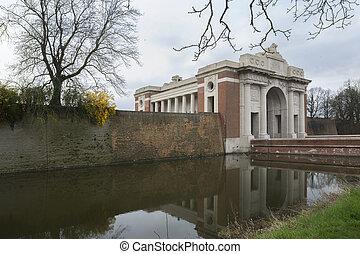 Menin Gate in Ypres, Ieper, Belgium. - Menin Gate in Ypres, ...