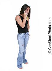 menina adolescente, cellphone