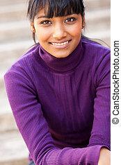 menina adolescente, indianas, bonito