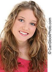 menina adolescente, retrato