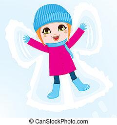 menina, angel neve
