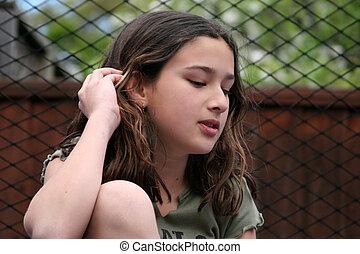menina, ao ar livre
