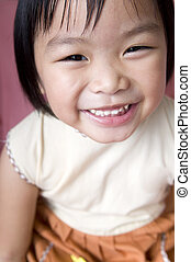 menina, asiático