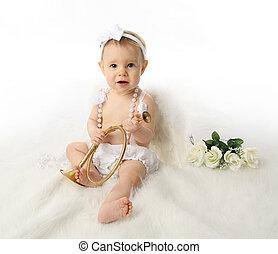 menina bebê, anjo