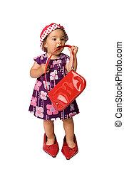 menina bebê, moda