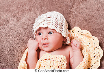 menina bebê, recem nascido