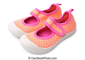 menina bebê, sapatos