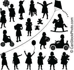 menina bebê, toddler, crianças, criança