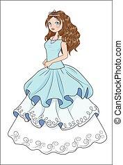 menina, bola, vestido