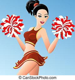 menina, cheerleader