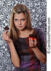 menina, chocolate