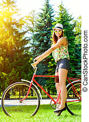 menina, ciclismo