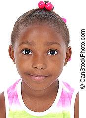 menina, criança, retrato