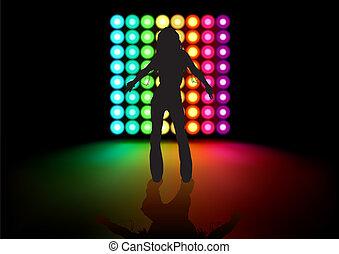 menina, dançar
