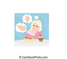 menina, dieta