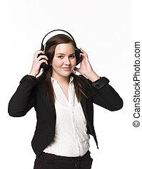 menina, escute música