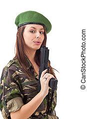 menina, exército