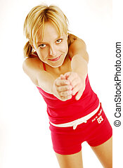 menina exercitar