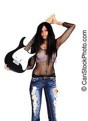 menina, guitar.