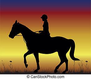 menina, horseback
