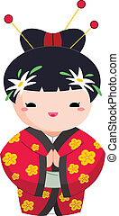 menina, japoneses