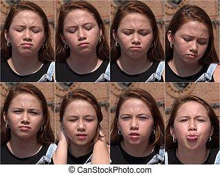 menina, jovem, infeliz, collage.jpg