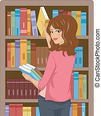 menina, livro