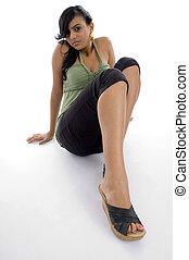 menina, pernas, excitado, dela, mostrando, bonito