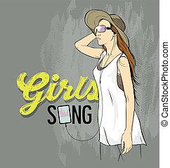 meninas bonitas, cobertura, música, desenho