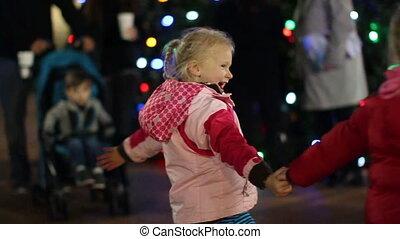 meninas, dançar, em, natal 2