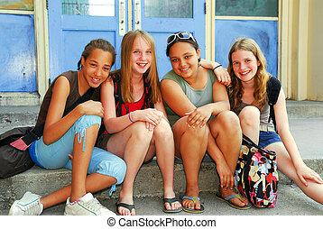 meninas escola