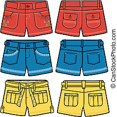 meninas, fantasia, quentes, shorts