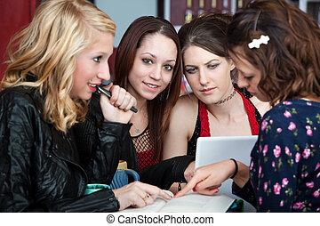 meninas, grupo estudo