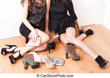 meninas, sapatos