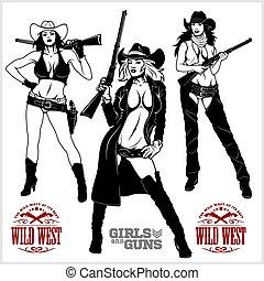 meninas, winchesters, ocidental