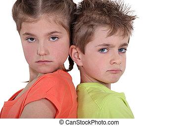 meningsverschil, kinderen, hebben