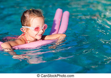 menininha, piscina, natação