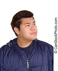 menino, adolescente, asiático