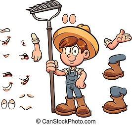 menino, agricultor