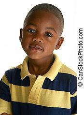 menino, americano, adorável, africano